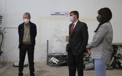 Visita a la planta RAEE: La Legislatura y el Gobierno impulsan proyecto de ley para el aprovechamiento de residuos electrónicos del Estado